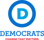 12972-democratic-party-logo-with-slogan-tall-color-sticker